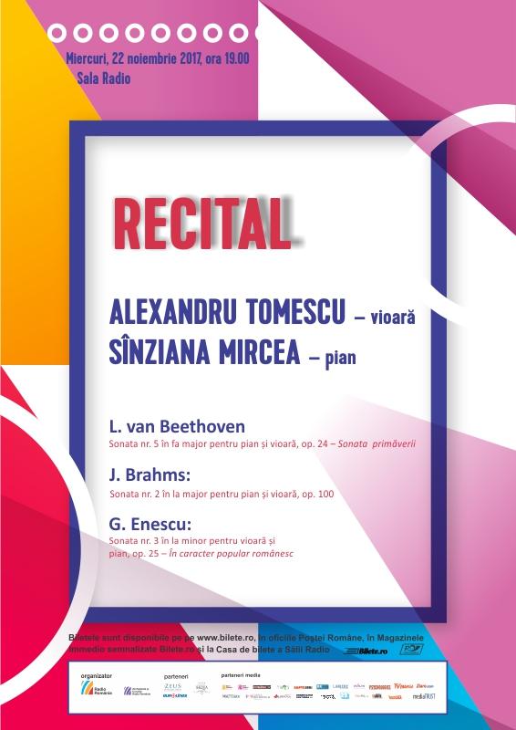 ALEXANDRU TOMESCU – SÎNZIANA MIRCEA -Recital