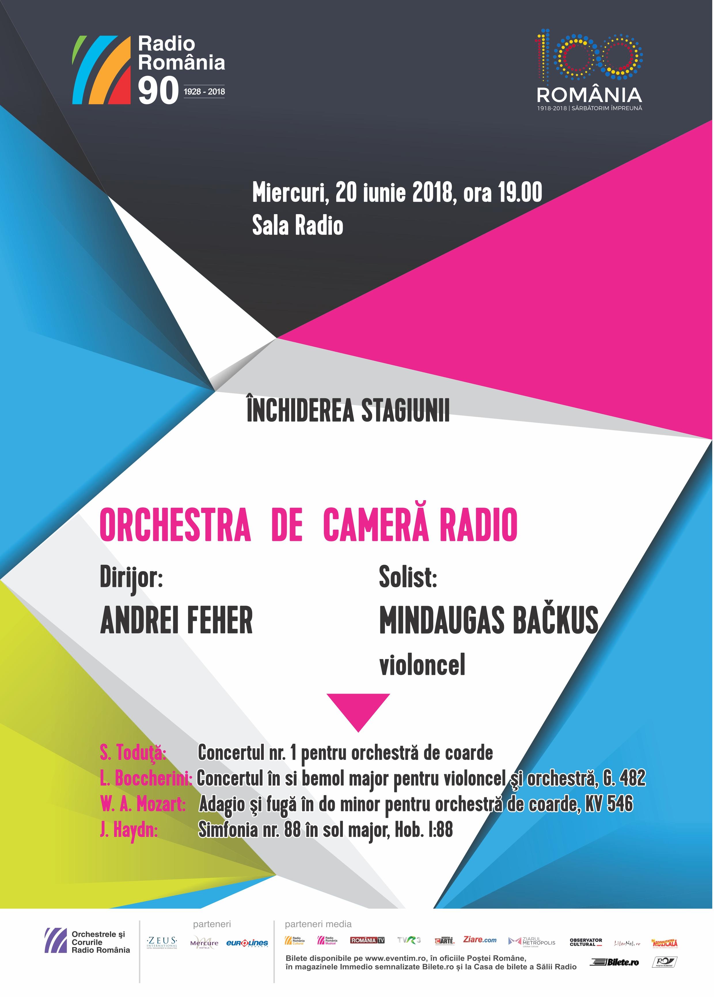 ORCHESTRA DE CAMERĂ RADIO – ÎNCHIDEREA STAGIUNII