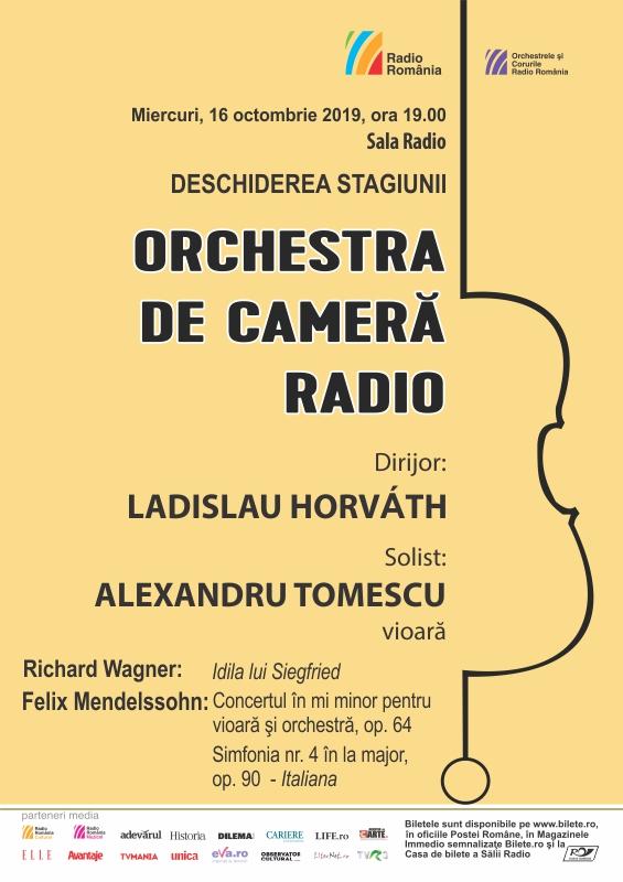 ALEXANDRU TOMESCU- ORCHESTRA DE CAMERĂ RADIO- DESCHIDEREA STAGIUNII