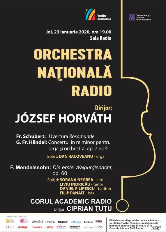 ORCHESTRA NAŢIONALĂ RADIO – Concert de orgă