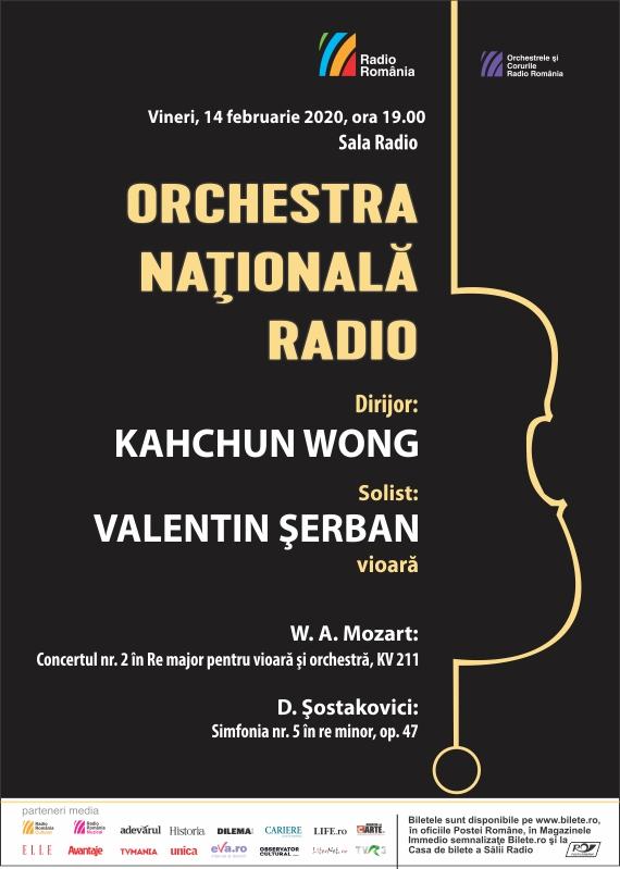 ORCHESTRA NAŢIONALĂ RADIO – Mozart, Şostakovici